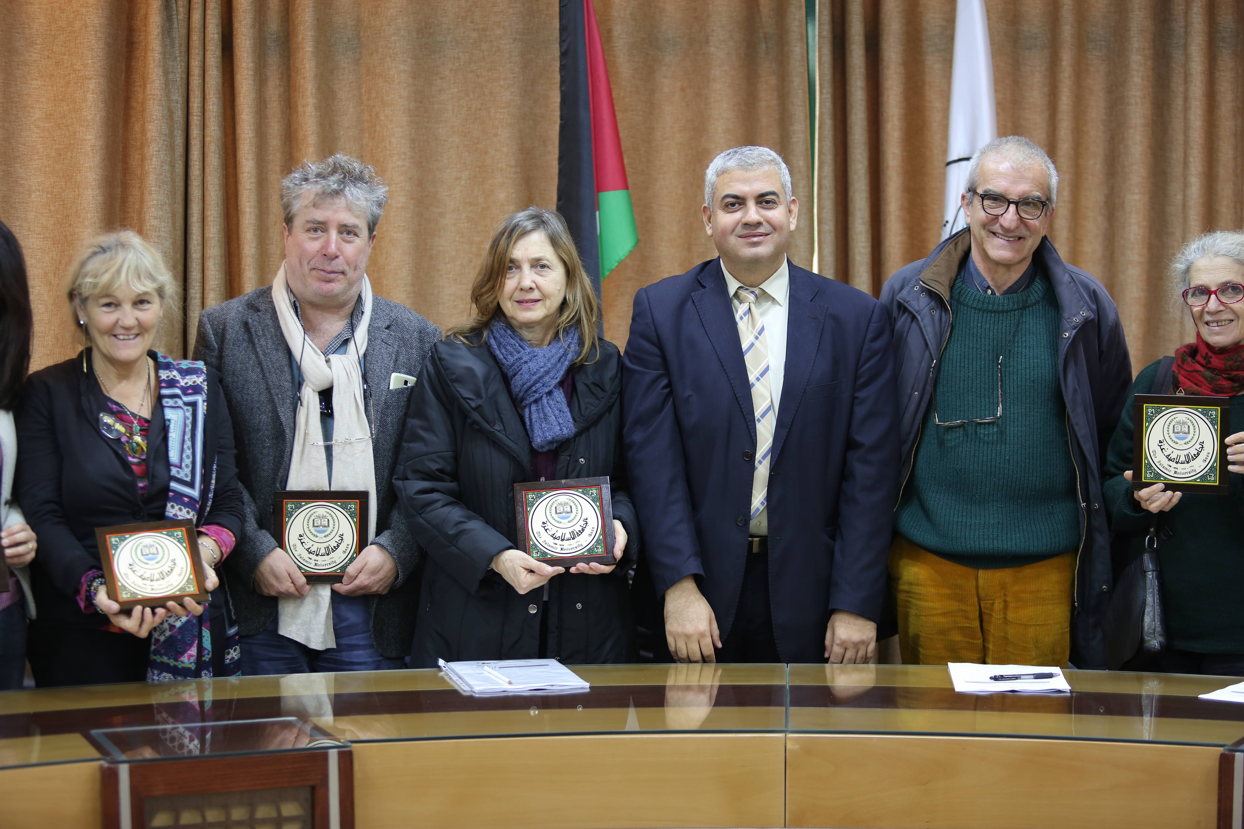 Academic Delegation From Siena University Visits IUG